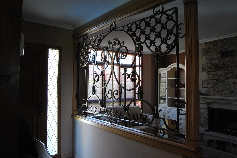 Reja decorativa de hierro forjado